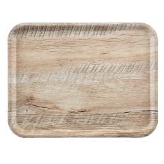 Plateau marron bois compresse bord droit Madeira Cambro