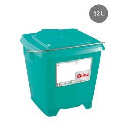 Seau carré vert 12 l Gilac