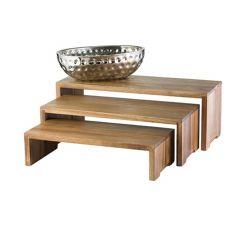 Présentoir brun bois 56 cm Tablecraft (3 pièces)