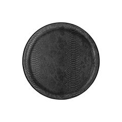 Plateau limonadier noir polyester bord profilé Platex