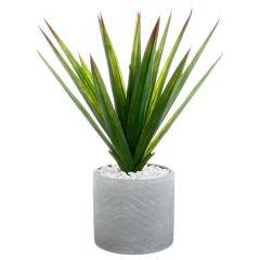 Aloe vera articielle pot ceramique 35 cm
