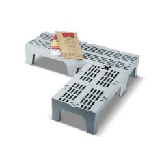 Palette de stockage rectangulaire grise 53x91 cm Cambro