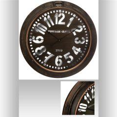 Horloge ronde marron 73,50 cm