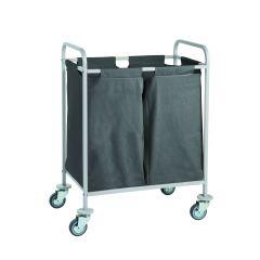 Chariot à linge gris 53,20x88,20 cm Ibiza Caddie Hotel
