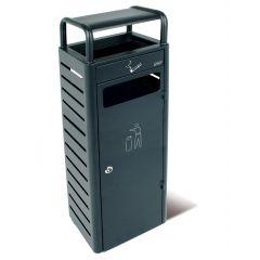 Collecteur avec cendrier rectangulaire gris 30x25 cm Probbax