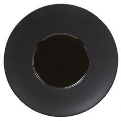 Assiette plate ronde noire Ø 28 cm Chic & Mat Pro.mundi