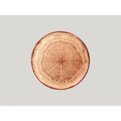 Assiette plate rond timber Ø 27 cm Woodart Rak