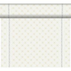 Tête à tête non tissé 40x24 cm Glitter Blanc Duni