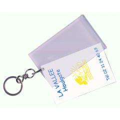 Porte-clés plastique transparent 5,50x9 cm