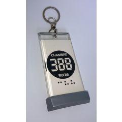 Porte-clés plastique transparent 4,80x10 cm