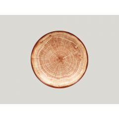 Assiette coupe creuse rond timber porcelaine Ø 23 cm Woodart Rak