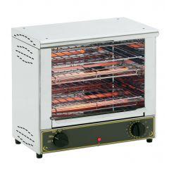 Toaster 2 niveaux bar 2000 gris 230v 300 pièces Roller Grill