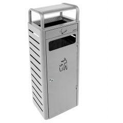 Collecteur avec cendrier rectangulaire gris 25x30 cm Probbax