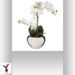 Orchidee pot argent 30 cm