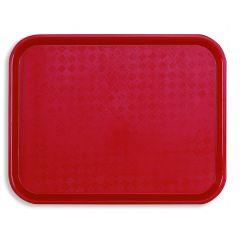 Plateau rouge plastique bord droit Acer Pp Platex