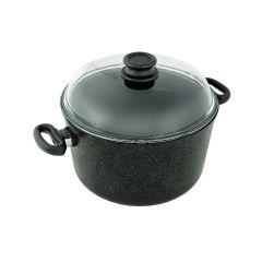 Faitout avec couvercle noir fonte d'aluminium Ø 28 cm 9 l