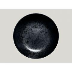 Assiette creuse rond noir Ø 26 cm Karbon Rak
