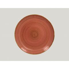 Assiette plate rond coral porcelaine Ø 27 cm Twirl Rak