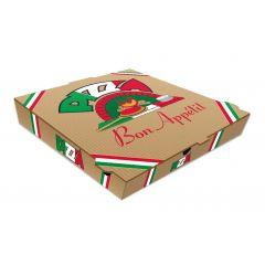 Boîte à pizza carrée beige 33x33 cm (100 pièces)