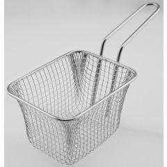 Panier à frites rectangulaire gris inox 13 cm Pro.mundi