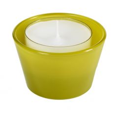 Photophore conique jaune Ø 7,8 cm 5 cm Spaas