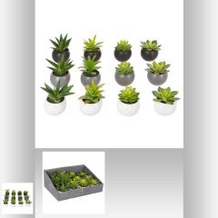 Plante grasse artificielle pot 8 cm