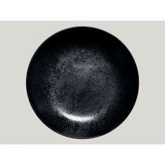 Assiette creuse rond noir Ø 28 cm Karbon Rak