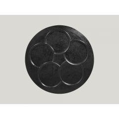 Assiette à compartiments ronde noire porcelaine Ø 30 cm Create Rak