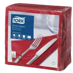 Serviette bordeaux ouate de cellulose 39x39 cm Tork (150 pièces)