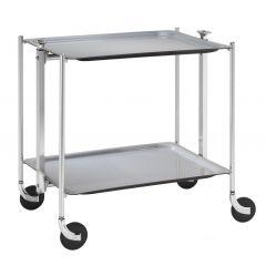 Table roulante gris aluminium Platex