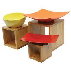 Présentoir brun bois 23 cm Barclay Risers Tablecraft (3 pièces)