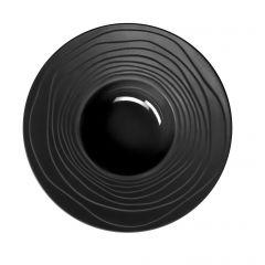 Assiette à pâtes ronde noire grès Ø 28 cm Escale Medard De Noblat