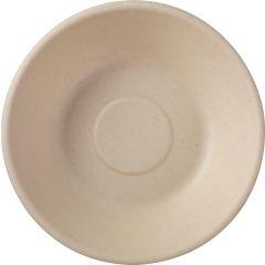 Assiette creuse ronde marron Ø 16 cm Bagasse Duni (50 pièces)