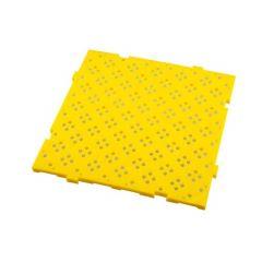 Caillebotis carré jaune 50x50 cm Gilac