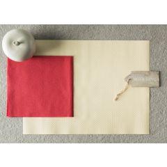 Serviette rouge non tissé 40x40 cm (50 pièces)