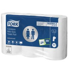 Papier hygiénique blanc ouate de cellulose Tork (6 pièces)