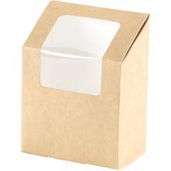 Boîte à wrap rectangulaire marron 5x9 cm 55 cl Duni (1000 pièces)