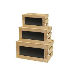 Présentoir brun bois 49 cm Tablecraft (3 pièces)
