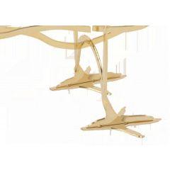 Oiseau de décoration or 11 cm Ibride