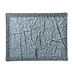 Plateau rectangulaire noir plastique 46 cm Acrylic3 Platex
