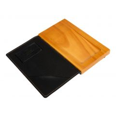 Porte-addition rectangulaire noir 10x17,9 cm Securit