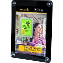 Porte-affiches rectangulaire noir 27x36 cm Securit