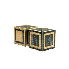 Pot marie mozaic carré noir 17 cm Serax (2 pièces)