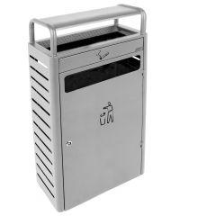 Collecteur avec cendrier rectangulaire gris 25x48 cm Probbax