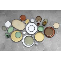 Gobelet à thé rond muscade porcelaine 22 cl Ø 8 cm Caractere Revol