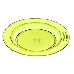 Assiette creuse ronde jaune plastique Ø 18 cm Vaisselle Copolyester Saint Romain