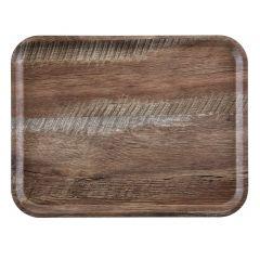 Plateau rectangulaire marron plastique droit Madeira Cambro