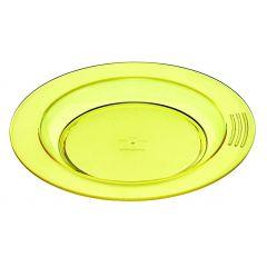 Assiette creuse ronde jaune plastique Ø 23 cm Vaisselle Copolyester Saint Romain