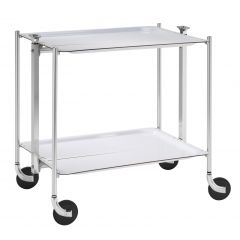 Table roulante argent aluminium Platex
