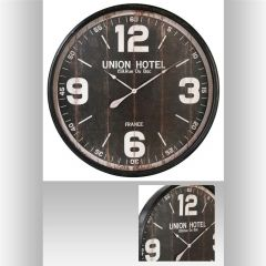 Horloge ronde noire 90 cm